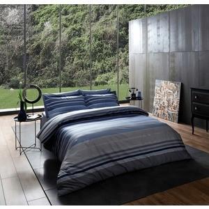 Комплект постельного белья TAC 1,5 сп Luxe line синий (3080-07126)