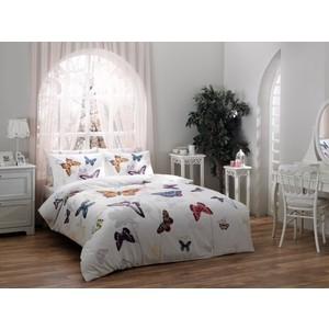 Комплект постельного белья TAC Семейный Butterfly белый (3082-07088)
