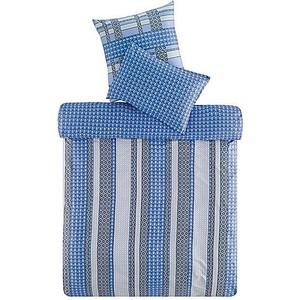 Комплект постельного белья TAC 1,5 сп Leiko V03-mavi синий (3908-60067885)