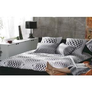 Комплект постельного белья TAC Евро Argos V01-siyah черный (3909-60067882)