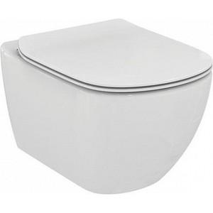 Унитаз подвесной (чаша) Ideal Standard Tesi AquaBlade белый (T007901) унитаз ideal standard connect air aquablade подвесной с сиденьем микролифт