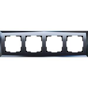 Рамка Werkel Diamant черный WL08-Frame-04 датчики сигнализации homi security hg wl08