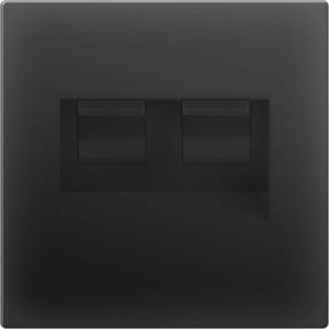 Розетка двойная Ethernet RJ-45 Werkel черный матовый WL08-RJ45+RJ45 werkel