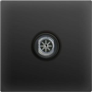 ТВ-розетка проходная Werkel черный матовый WL08-TV-2W  тв розетка проходная серебряный wl06 tv 2w 4690389073496