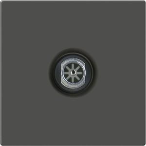 ТВ-розетка проходная Werkel серо-коричневая WL07-TV-2W  тв розетка проходная серебряный wl06 tv 2w 4690389073496