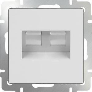 Розетка телефонная RJ-11 и Ethernet RJ-45 Werkel белая WL01-RJ11-45