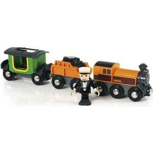 Brio Паровоз Ретро с 2 вагонами и фигуркой (33036)