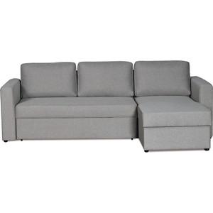 Диван-кровать угловой СМК Дублин 211 2д-1пф 194 серый