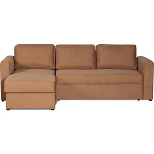 Диван-кровать угловой СМК Дублин 211 2д-1пф 200 коричневый