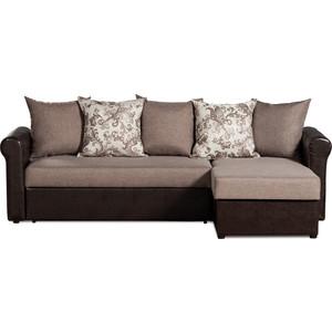 Фотография товара диван-кровать угловой СМК Меценат 217 2д-1пф 192 бежевый/коричневый (583055)