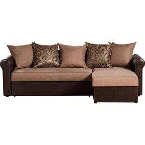 Диван-кровать угловой СМК Меценат 217 2д-1пф 169 коричневый