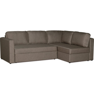Диван-кровать угловой СМК Приор 219 2д-1пф 262 темно коричневый