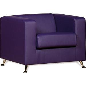 Кресло СМК Модуле 041 1х к/з Санторини 0407 фиолетовый