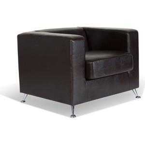 Кресло СМК Модуле 041 1х к/з Рекс 320 коричневый