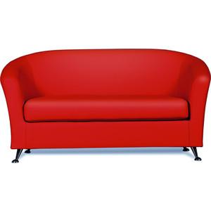 Диван СМК Бонн 040 2х к/з Санторини 0421 красный ламинат classen loft cerama санторини 33 класс