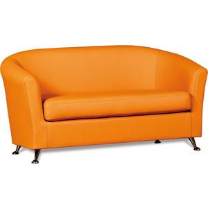 Диван СМК Бонн 040 2х к/з Санторини 0432 оранжевый тобрекс 2х 0 3