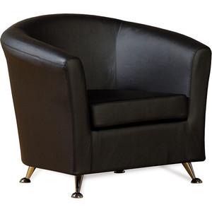 Кресло СМК Бонн 040 1х к/з Санторини 0401 черный стул алвест стандарт к з 311 черный к с черный