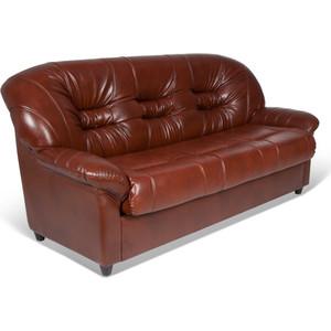 Диван-кровать СМК Шарлотта 045 3т к/з Родэс 0468 коричневый диван кровать смк дюссельдорф 147 б 2д у1пф правый угол 352 alba ash