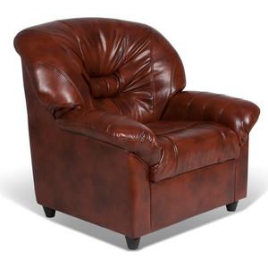 Кресло СМК Шарлотта 045 1х к/з Родэс 0468 коричневый