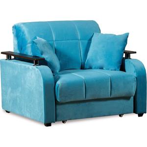 Кресло-кровать СМК Неаполь 086 1а 80 С68/Б88/П00 245 бирюза