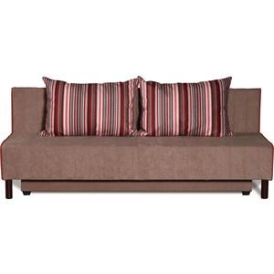 Диван-кровать СМК Альто 222 3ек 265 роз/коричневый