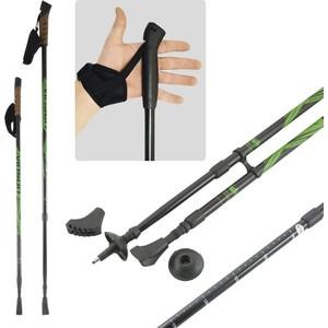 Палки для скандинавской ходьбы Vinson Plus (85-135 см, черно-зеленые) от ТЕХПОРТ