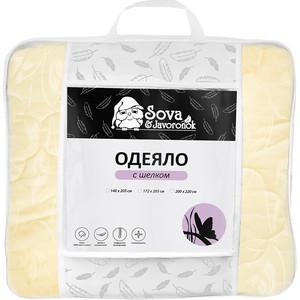 Полутороспальное одеяло Сова и Жаворонок Шелк 140x205 одеяло евростандарт сова и жаворонок шелк сиж