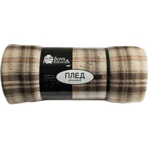 Плед Сова и Жаворонок Шерлок флисовый 150x200 цена