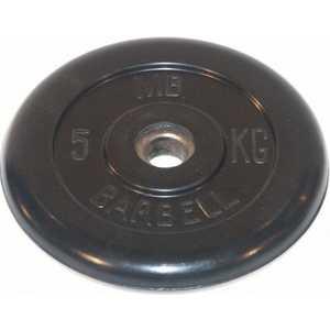 Диск обрезиненный MB Barbell 26мм 5кг черный ''Стандарт''