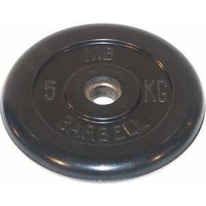Barbell MB-26-5 обрезиненный 5 кг