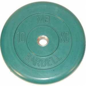 Диск обрезиненный Titan 26 мм 10 кг зеленый