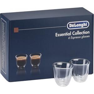 Аксессуар DeLonghi набор чашек Espresso Glasses Set (6 шт)