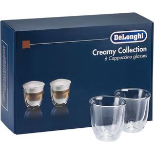 Аксессуар DeLonghi набор чашек Cappuccino Glasses Set (6 шт) кофемашина delonghi ecam 45 760 w белый
