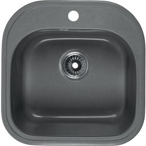 Мойка кухонная Rossinka 47,6x47,6 с сифоном (RS48-49S-Gray)