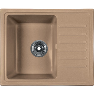 Мойка кухонная Rossinka 55x45,2 реверсивная, с сифоном (RS56-46SW-Sand) мойка кухонная rossinka 55x45 2 реверсивная с сифоном rs56 46sw sand