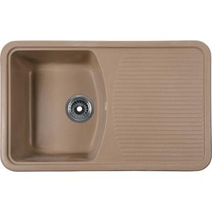 Мойка кухонная Rossinka 74,2x46 реверсивная, с сифоном (RS76-47SW-Sand) мойка кухонная rossinka 55x45 2 реверсивная с сифоном rs56 46sw sand