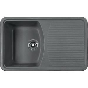 Мойка кухонная Rossinka 74,2x46 реверсивная, с сифоном (RS76-47SW-Gray) кухонная мойка marmorin halit gray 1b1d r 520 113 003