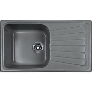 Мойка кухонная Rossinka 78x43,3 реверсивная, с сифоном (RS81-46SW-Gray) кухонная мойка marmorin halit gray 1b1d r 520 113 003