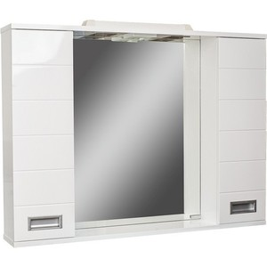 Шкаф-зеркало Домино Cube 90 Эл (DC5012HZ)  домино cube 65 левый