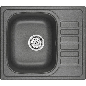 Мойка кухонная Granula 57,5х49,5 см графит (GR-5801 графит) мойка кухонная granula 50 5х51 см графит gr 5102 графит