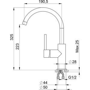 Смеситель для кухни Granula (GR-2056 антик) смеситель для кухни gerdamix gr verde gr328 бежевый