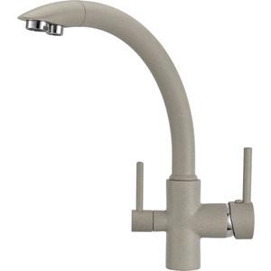 Смеситель для кухни Granula с краном под питьевую воду (GR-2615 базальт) купить алюминевый бак под воду