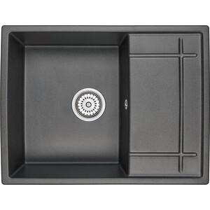 Мойка кухонная Granula 65х50 см черный (GR-6501 черный) кухонная мойка granula 4201 классик