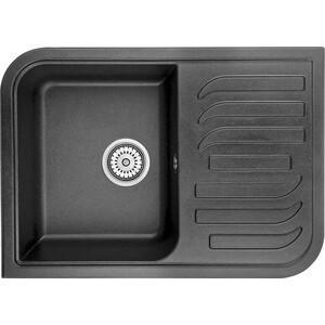 Мойка кухонная Granula 69,5х49,5 см черный (GR-7001 черный) мойка кухонная granula 69 5х49 5 см классик gr 7001 классик