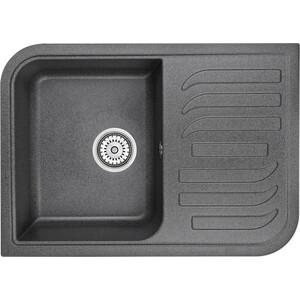 Мойка кухонная Granula 69,5х49,5 см графит (GR-7001 графит) мойка кухонная granula 77 5x49 5 см графит gr 7802 графит