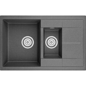 Мойка кухонная Granula 77,5x49,5 см графит (GR-7802 графит) адаптер переходник atcom dvi d vga at9214 позолоченные контакты