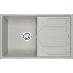 Мойка кухонная Granula 79x50 см базальт (GR-8002 базальт) кухонная мойка granula 4201 классик