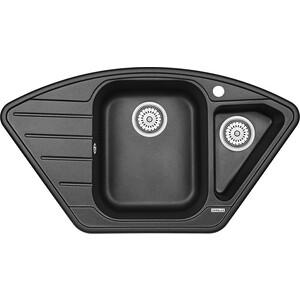 Мойка кухонная Granula 89x49 см черный (GR-9101 черный) wasserkraft leine 3504