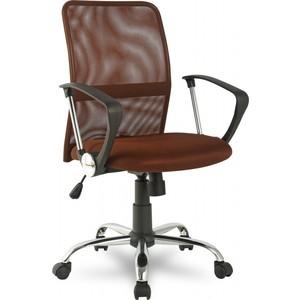 Офисное кресло College H-8078F-5 Brown кресло college h 8078f 5 ткань офисное крестовина хромированный металл подлокотники пластик коричневый