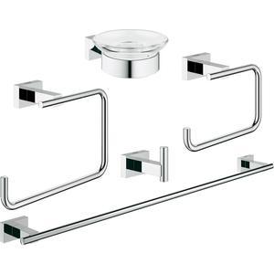 все цены на  Набор аксессуаров для ванной Grohe Essentials Cube 5 предметов (40758001)  онлайн